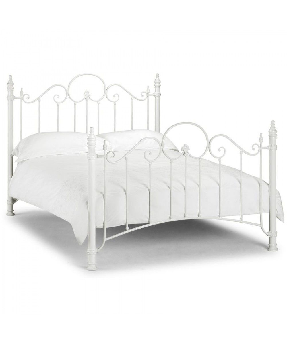 Claudia stone metal bed frame is a stylish and originally designed ...