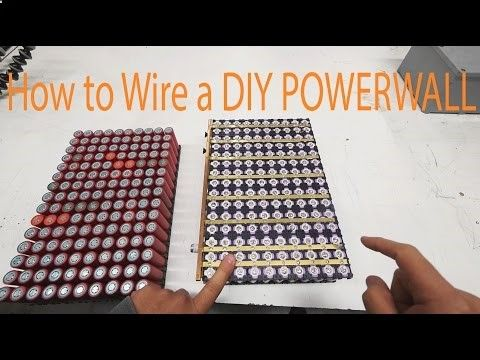 How To Make A Diy Tesla Powerwall For 300 Youtube Powerwall Tesla Powerwall Solar Panels