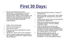 Days Plan To Meet Goals For New Organization - 90 day business plan template for interview