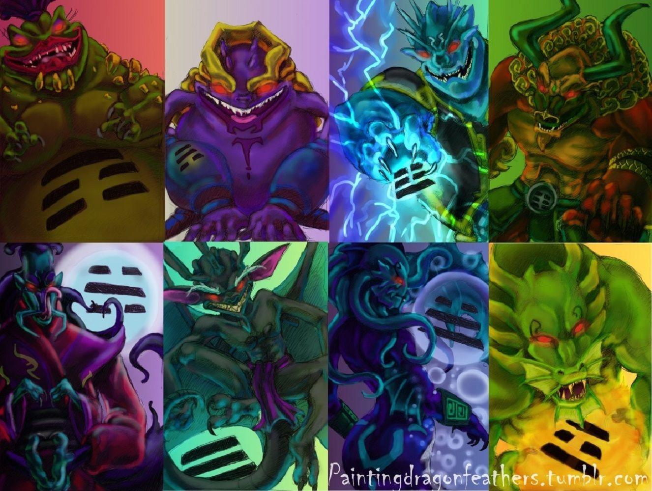 Jackie chan adventures demons by paintingdragonfeathers for Jackie chan adventures jade tattoo
