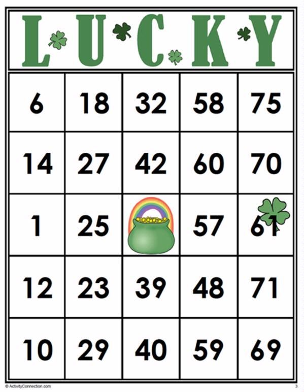 Bingo Cards 35 Lucky Bingo Cards Free Bingo Cards Bingo Cards