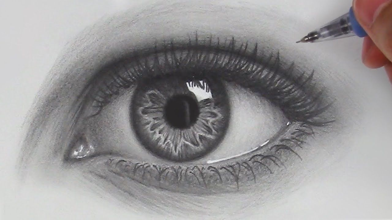 How to draw hyper realistic eyes step by step for beginners youtube