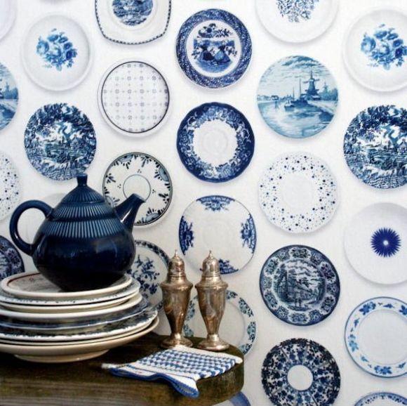 Umpasteldenanta Porslin Blue White China Blue China Blue Plates