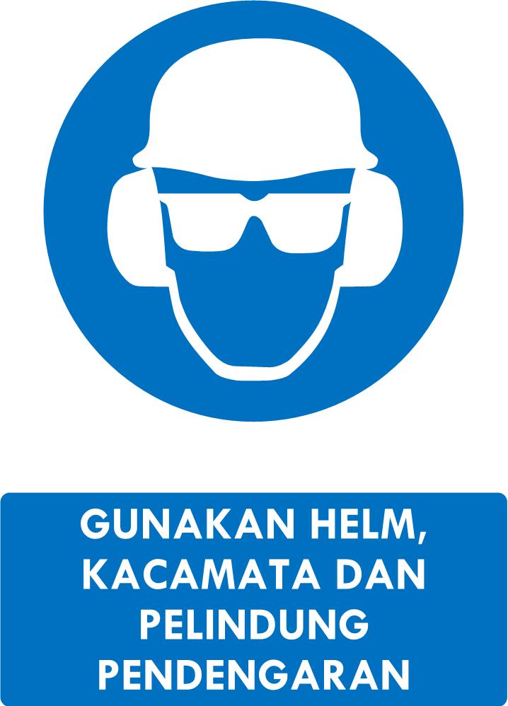 Rambu Helm Kacamata Pelindung Pendengaran Kacamata Helm