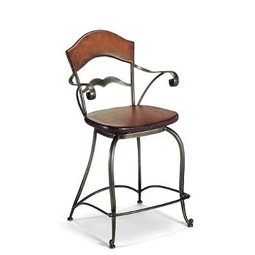 Peachy Maynard Counter Height Bar Stool 24 1 2H Seat 32H Arms Ncnpc Chair Design For Home Ncnpcorg