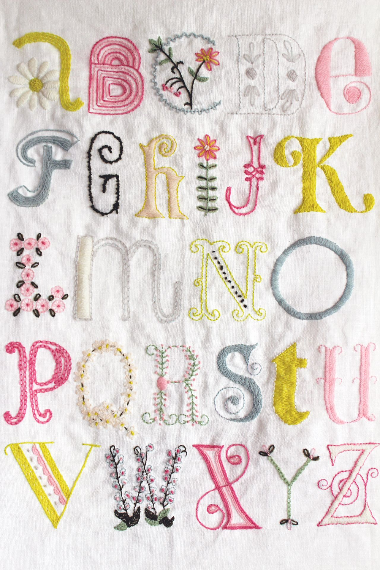 刺繍 図案 アルファベット 刺繍フォント 刺繍 図案