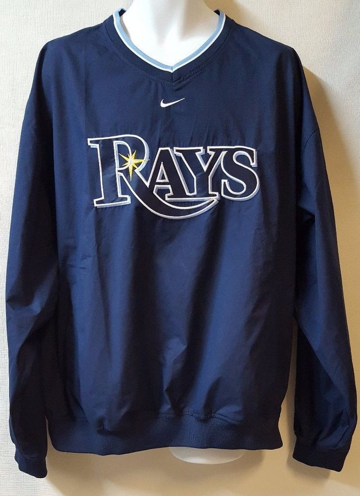 Nike Golf Tampa Bay Rays Size Xl Jacket V Neck Pullover Windbreaker Pullover Windbreaker Sport Outfit Men Men S Coats And Jackets