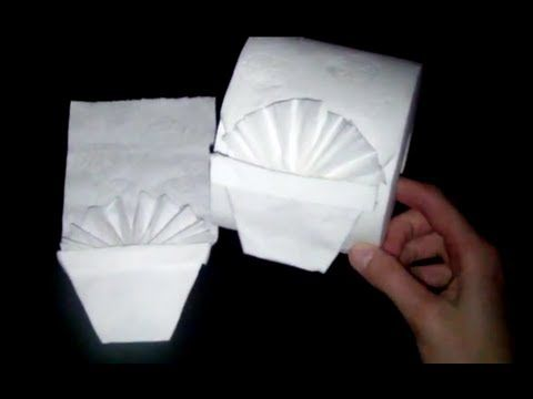 4d90453a3 How to make Toilet Paper Origami Folding Fan (easy!) - YouTube ...