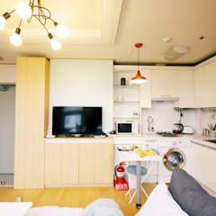 Photo of Il soggiorno in stile scandinavo di Homelatte scandinavo omette