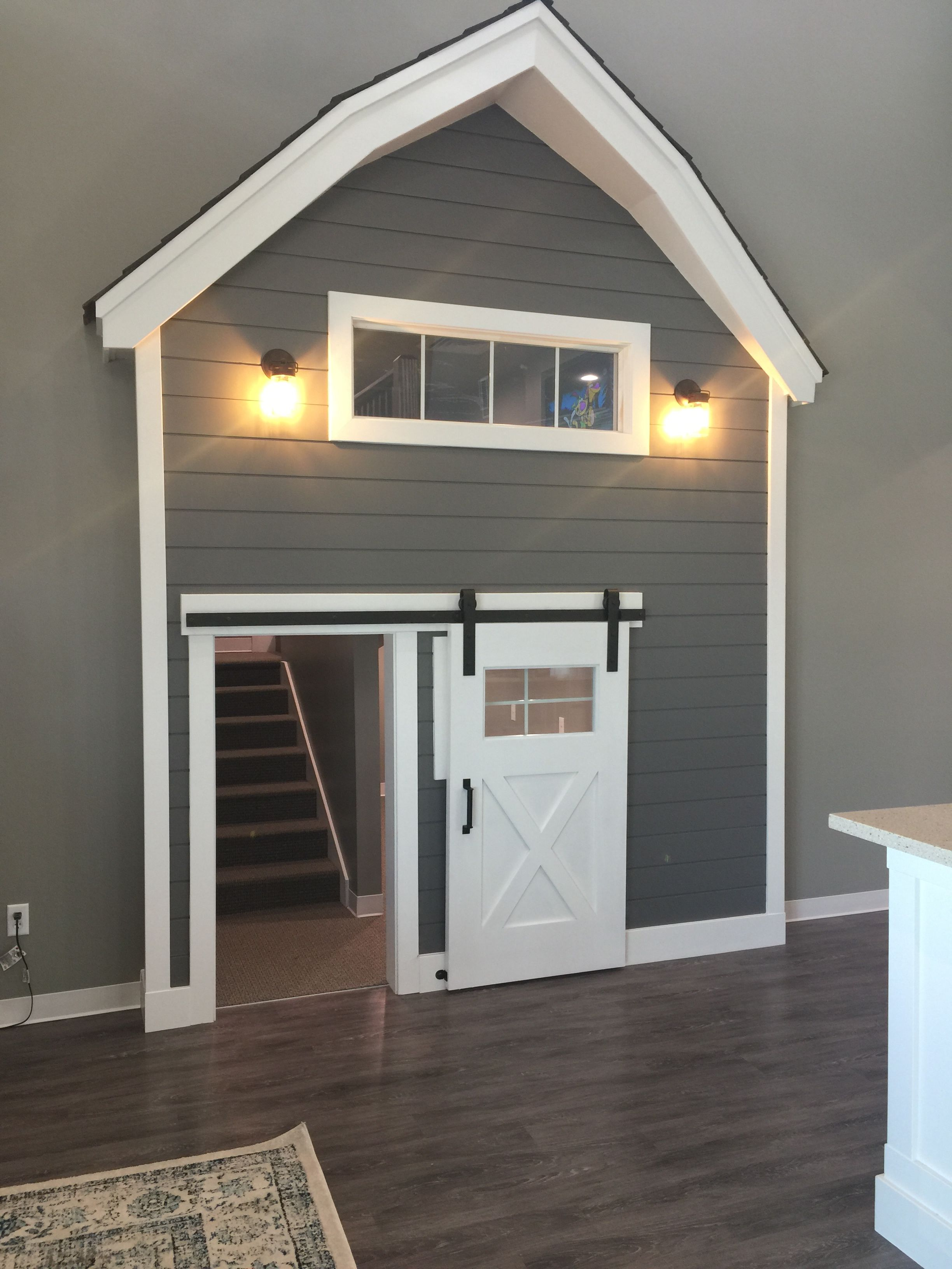 Artisan Hardware Sliding Barn Door Hardware Sliding Door Play House Under Stairs Playhouse House Interior Barn Doors