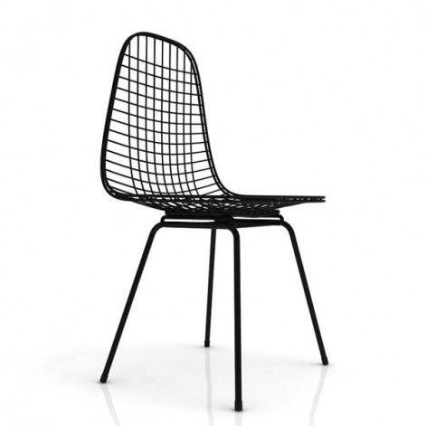 Wire Chair DKX Stoel Zwart | Stoelen, Draad stoel