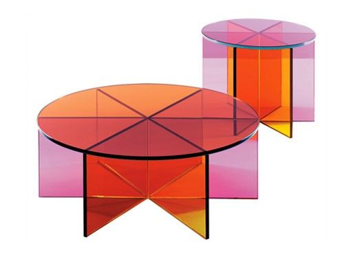 Clarity Color Glass Tables Colorful Coffee Table Tea Table