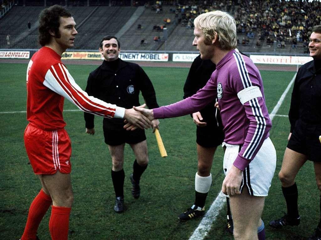 Tennis Borussia Berlin and Bayern Munich Captains Karl Heinz