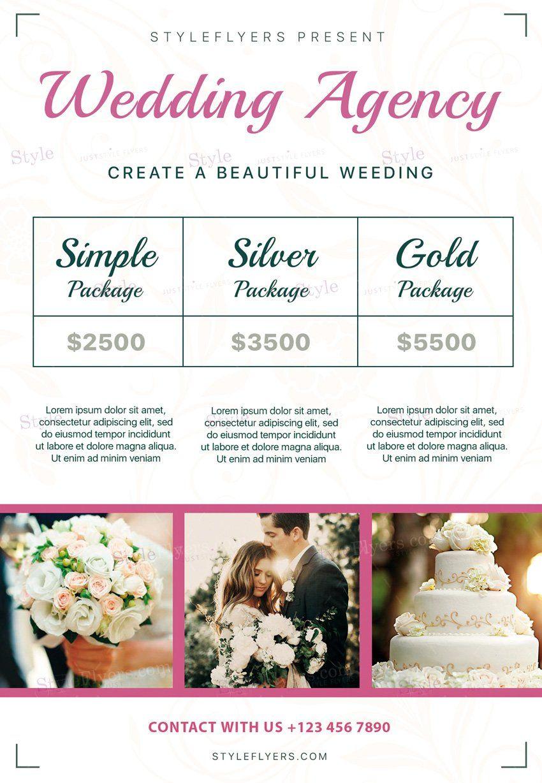 Wedding Agency Psd Flyer Template  Wedding Flyers