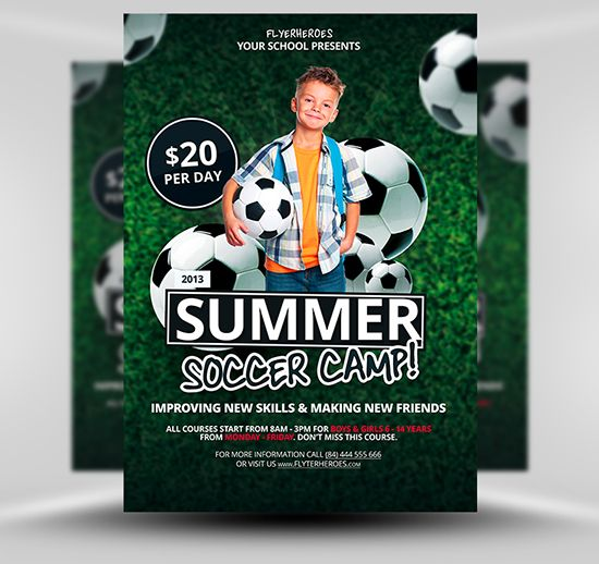 Free Soccer  Football Flyer Template  Psd Templates