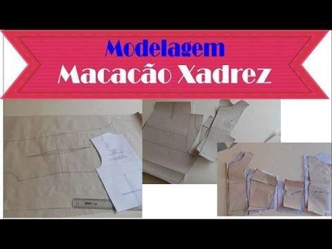 462b0cb7b Modelagem Macacão Xadrez Vichy #VEDA1 - YouTube   MODELAGEM VÍDEOS ...