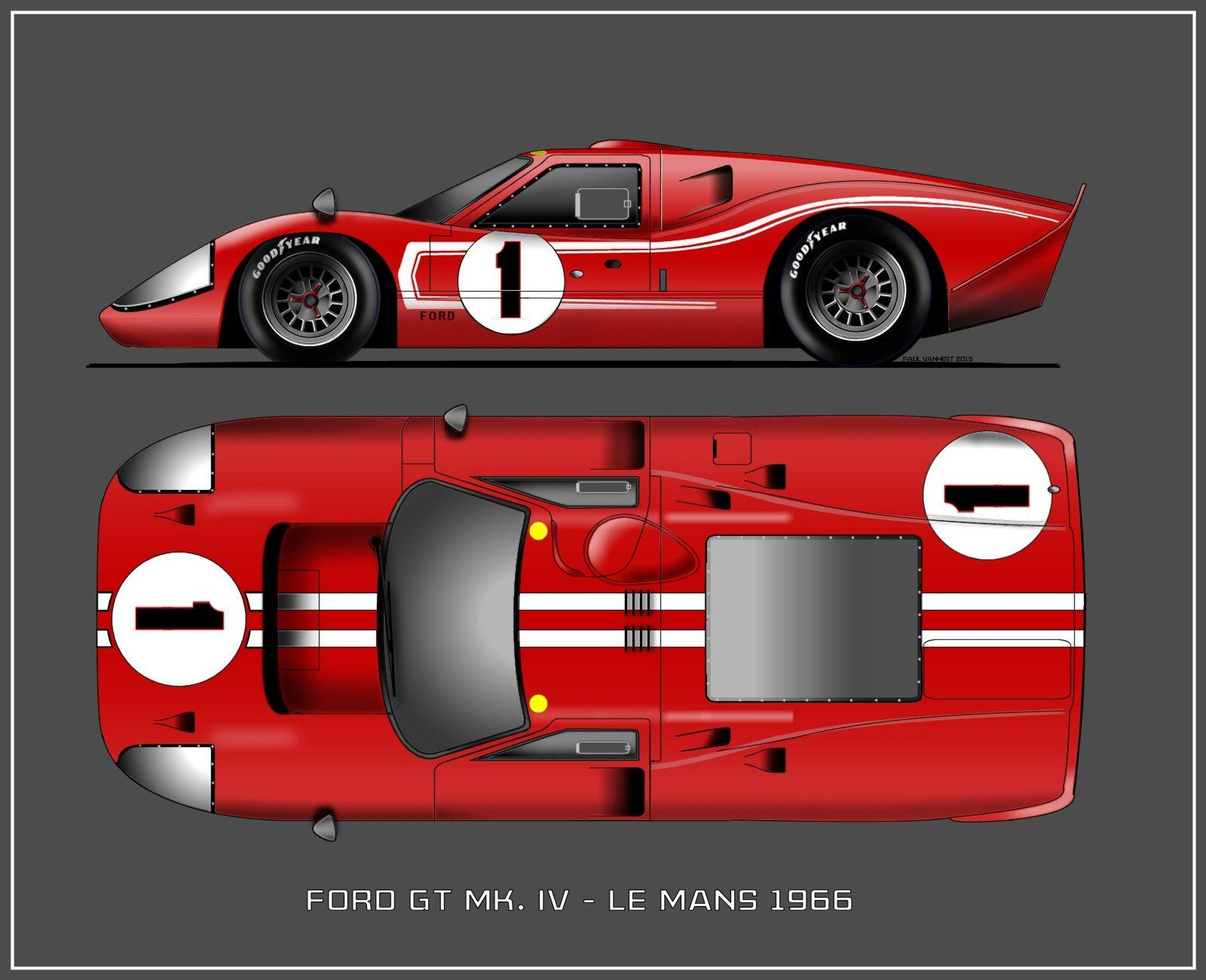 Ford Gt Mk 4 1966 Ford Gt Ford Motorsport Ford Racing
