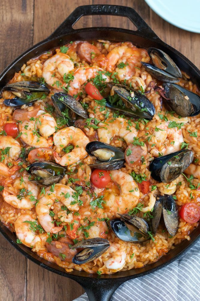 Authentic Seafood Paella Recipe with Saffron • Hip Foodie Mom