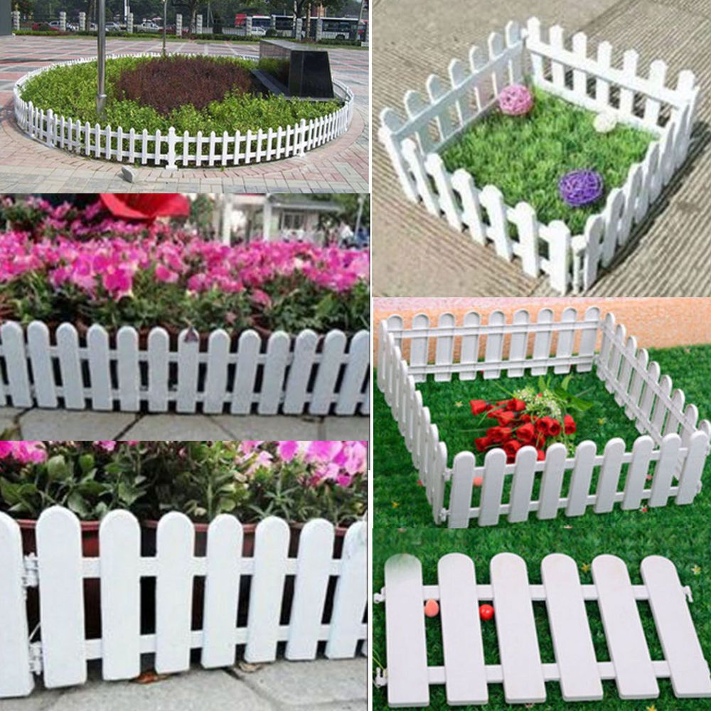 Details About Miniature Fairy Garden White Picket Fence