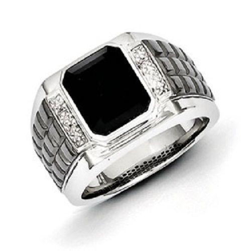Black diamond ring for men 3 the design GentsJewel and Things