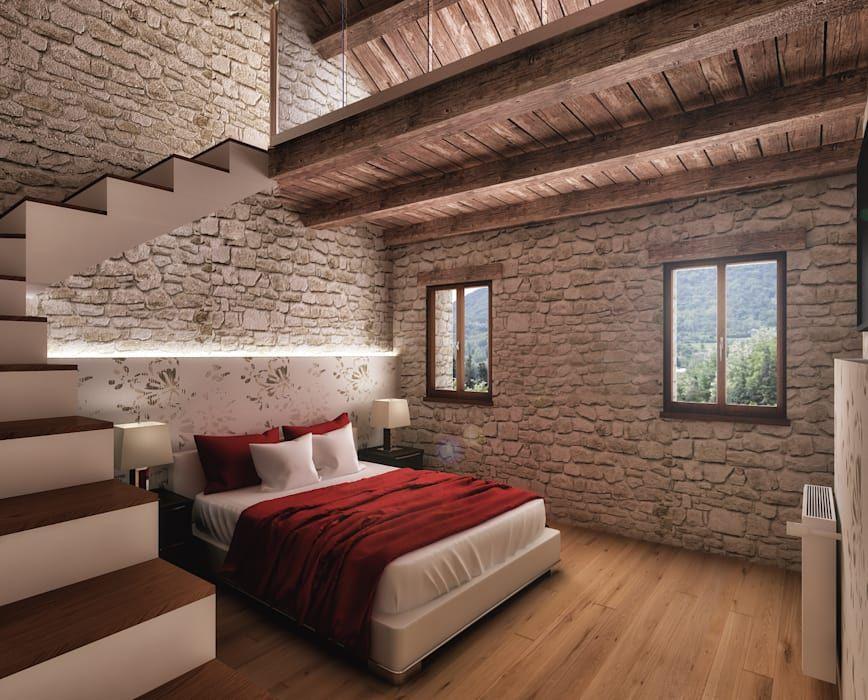 Camera Da Letto Camera Da Letto In Stile Rustico Di Casa Design