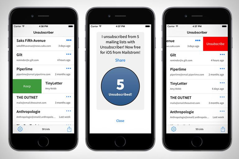 Unsubscriber This clever app works with all your GMail