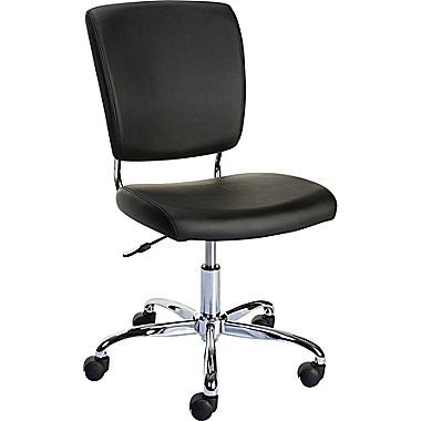 Nadler Office Chair Luxura Leather Black Seat W X 17 8 D Back 17 3 W X 17 H Office Chair Chair Black Office Chair