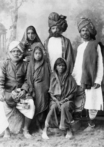 Family Of Criminals Called Dacoits, 1900s | gothic