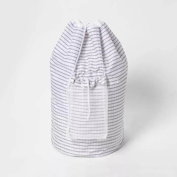 Backpack Laundry Bag Grid Pattern White Room Essentials In 2020