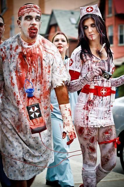 Zombie Doctor And Nurse Costumes For Halloween  sc 1 st  Pinterest & Zombie Doctor And Nurse Costumes For Halloween   Nurse Costumes ...