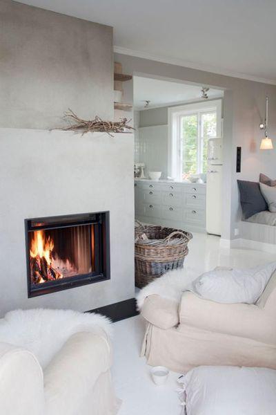Pinterest  7 salons déco avec cheminée à insert salon salle à
