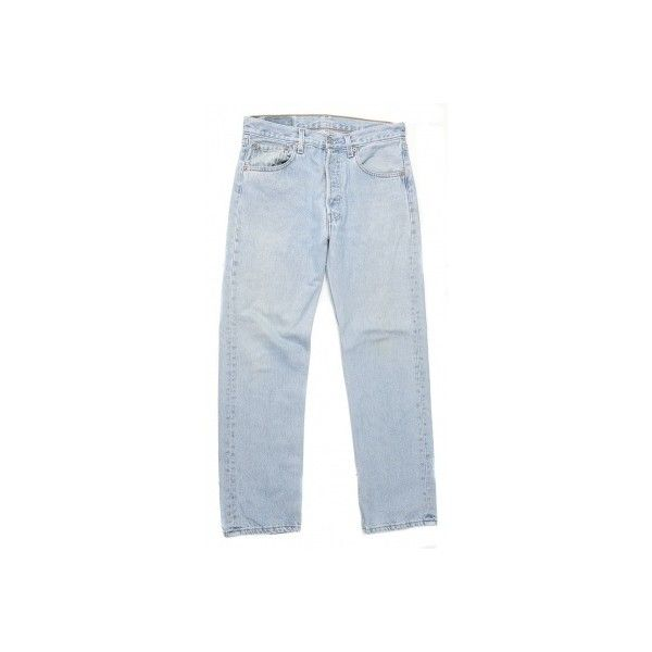 Levi's 501 Pale Blue Denim Jeans W32 L39 ❤ liked on Polyvore ...
