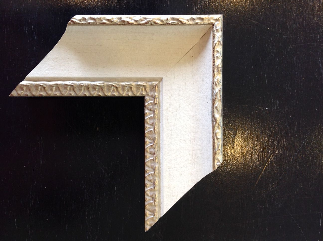 sample of molding we used for chair rail
