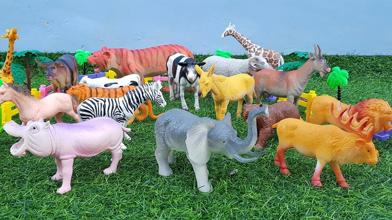 Learn Zoo Animals Wild Animals Names With Animal Toys