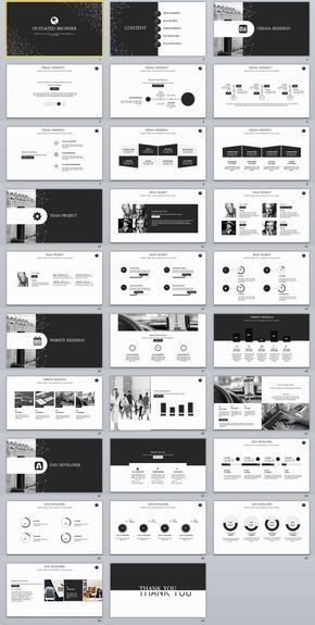 29+ Black Infographic Business PowerPoint Template #powerpoint