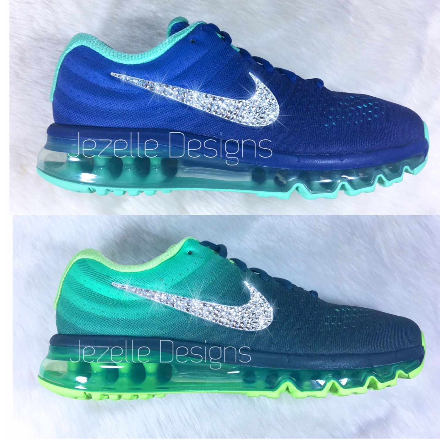 40fbd21bd6a4 Chicer Sneakers! 💎 Swarovski Nike Collection by JezelleDesigns.etsy ...