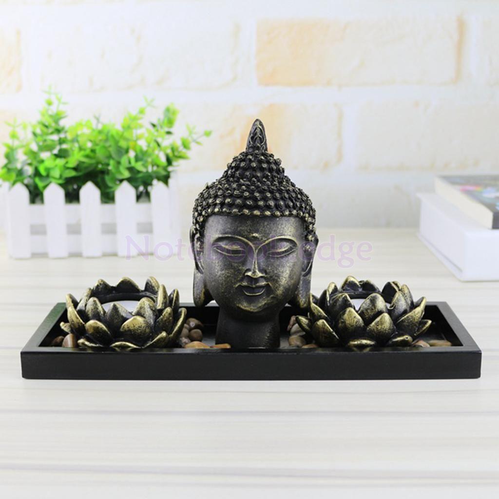 Zen garden office gift decor buddhist feng shui candle holder burner