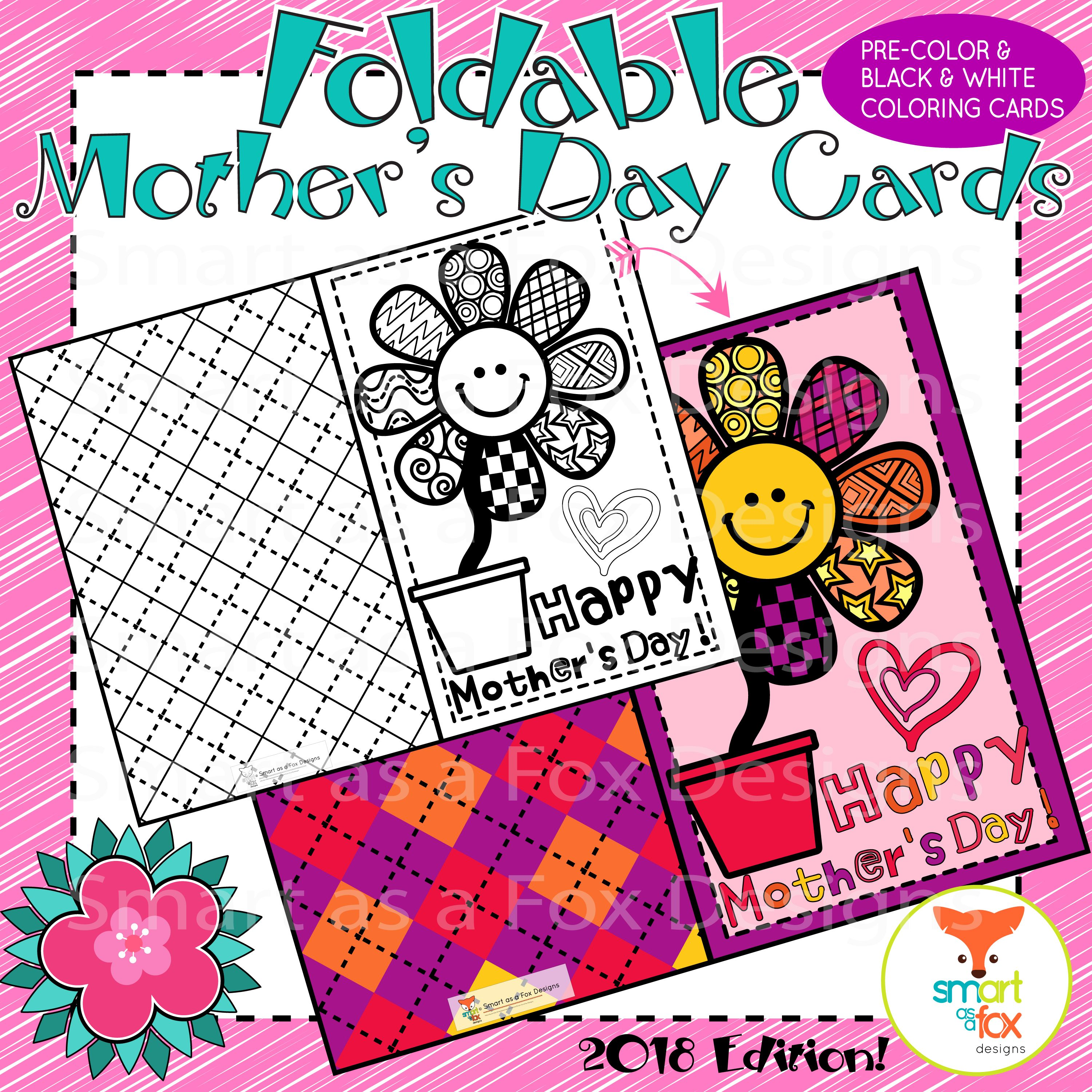 Mother S Day Coloring Craft Card Printable Mom Stepmom