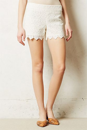 Will This Flirty Spring Trend Rule Them All?  #refinery29  http://www.refinery29.com/scalloped-edge-clothing#slide4  There's no better combination than lace and scalloping. These shorts will go perfectly with all of your spring style essentials.