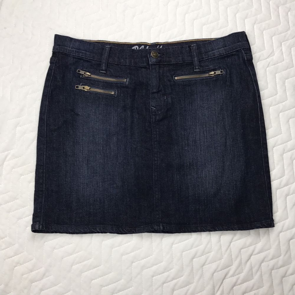 Details about Ladies Old Navy Blue Jean Denim Mini Skirt Size 10 ...
