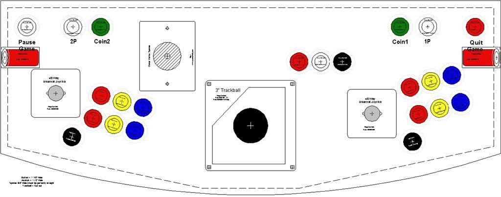 picture about Printable Arcade Button Template identify Manage style. 2 participant, 6 upon, trackball and spinner