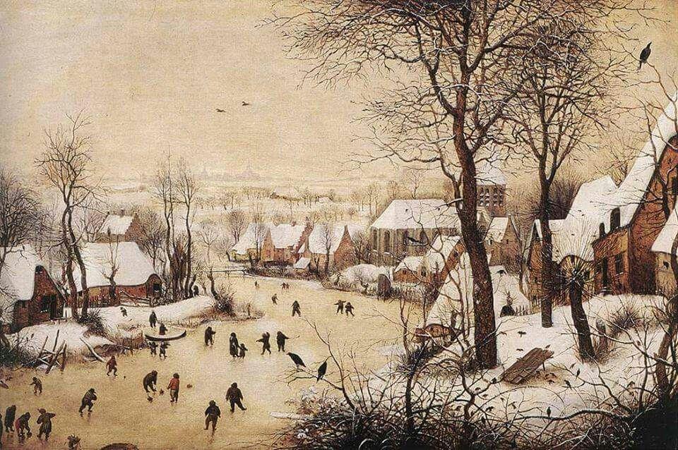 Bruegel il Vecchio - Paesaggio invernale