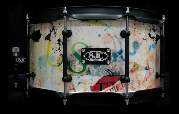 SJC custom snare.