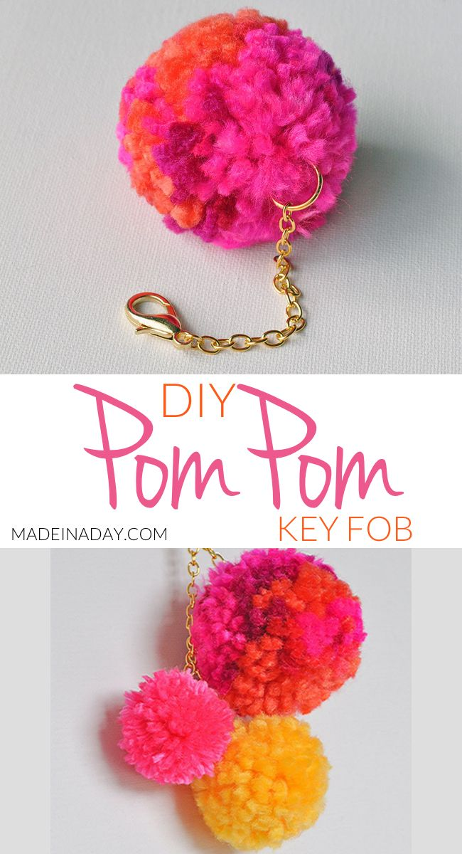 How To Make A Cute Large Pom Pom Key Chain To Dress Up Your Purse