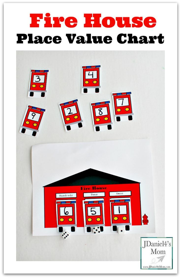 These fire house themed place value charts with number trucks would be great to work also rh ar pinterest