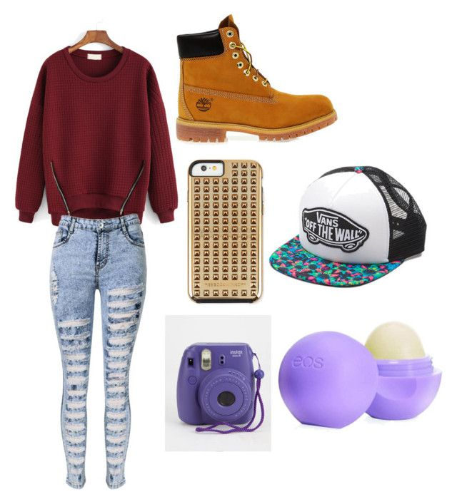 """""""Untitled #9"""" by kacywyman-2 on Polyvore featuring Timberland, Vans, Rebecca Minkoff and Eos"""