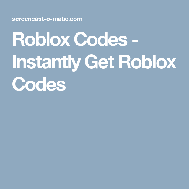 Roblox Codes - Instantly Get Roblox Codes | Roblox Codes