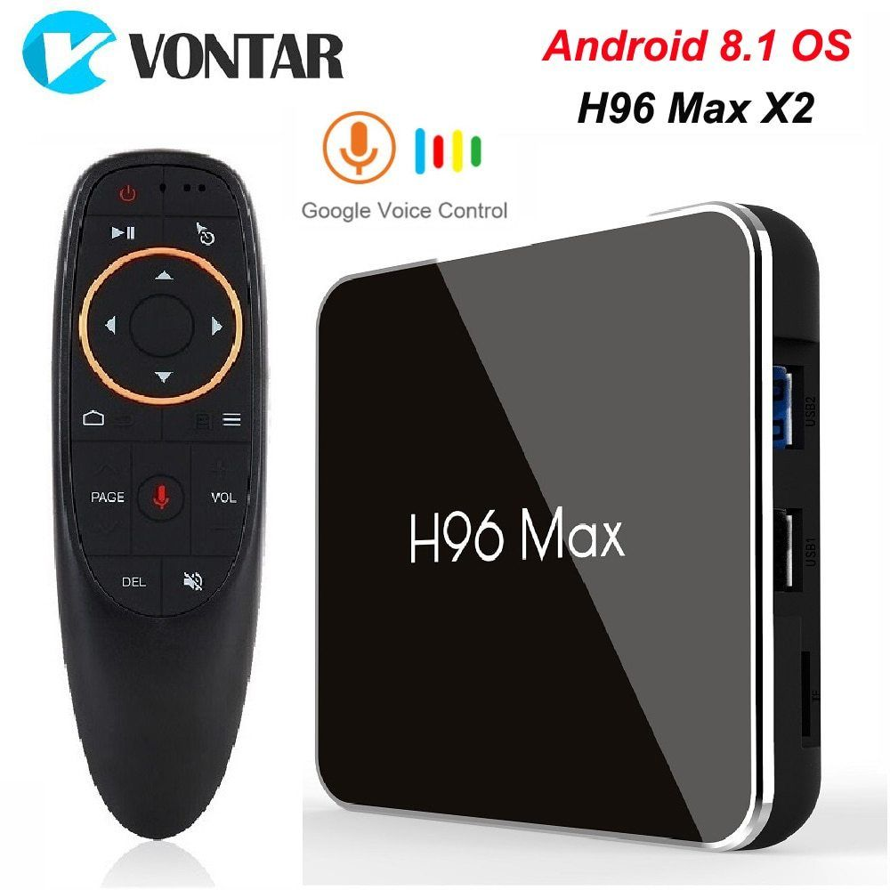 H96 MAX+smart 4K Android 8.1 4GB+32GB 64GB RK3328 Quad core wifi HD 1080P TV Box