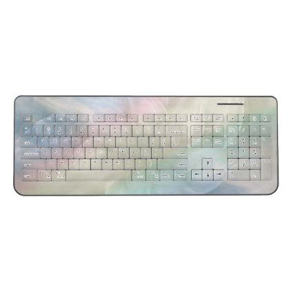 Pretty Cool Pastel Rainbow Mandala Design Wireless Keyboard   Trendy Gifts  Cool Gift Ideas Customize