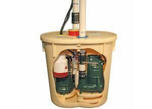 An Inside Look At Our Triplesafe Sump Pump System Including Airtight Lid Primary Pump Secondary Pump And Battery Backup Su Sump Pump Basement Systems Sump